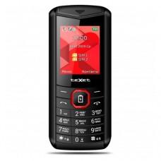 """Мобильный телефон Texet TM-D206, 1.77"""", 128х160, 2xSIM, черно-красный"""