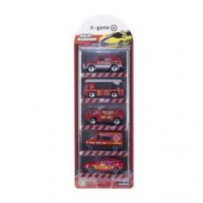 Набор машинок, X-Game, XGCM5C, Пластик,  Цветная коробка