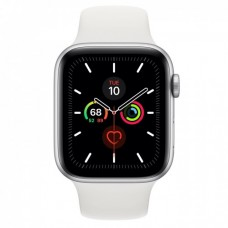 Apple Watch Series 5 GPS 44mm Silver Aluminium Case with White Sport Band Model A2093 MWVD2GK/A