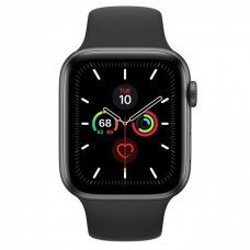 Apple Watch Series 5 GPS 44mm Space Grey Aluminium Case with Black Sport Band Model A2093 MWVF2GK/A