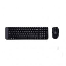 Комплект клавиатура+мышь Logitech MK220, USB, Black (беспроводной)