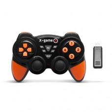 Игровой джостик X-game ,PCG2305,Беспроводной 2.4ГГц,14 кнопок,черный-оранжевый