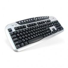 Клавиатура Genius KB-20e, PS/2, Серебристо-Черный (проводная)