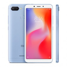 "Смартфон Xiaomi Redmi 6, 64GB, 5.45"", 1440x720, 3GB RAM, 12Mp+5Mp, 2xSIM, LTE, Blue"