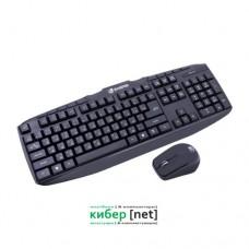 Комплект клавиатура+мышь Zwerg Grabe, Black, USB (беспроводная)