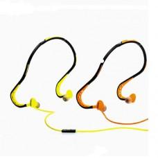 Наушники беспроводные вставные с микрофоном Remax RM-S15 оранжевый/ зеленый