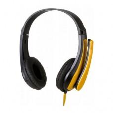 Наушники беспроводные накладные с микрофоном CANYON CNS-CHSC1BY, черный/желтый
