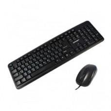 Комплект клавиатура+мышь Crown CMMK-856, Black, USB (проводная)