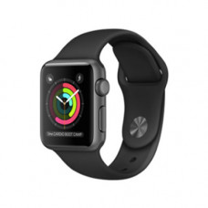 Apple Watch Series 2 38mm Space Gray Alluminium Case with Black Sport Band Model A1757 MP0D2GK/A