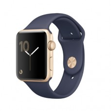 Apple Watch Series 2 42mm Gold Alluminium Case with Midnight Blue Sport Band Model A1758 MQ152GK/A