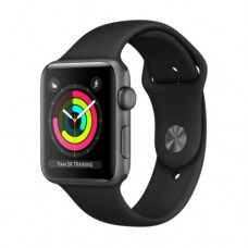 Apple Watch Series 3 GPS 38mm Space Grey Aluminium Case with Black Sport Band Model A1858 MTF02GK/A
