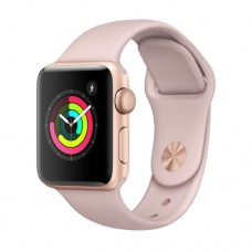 Apple Watch Series 3 GPS 38mm Gold Aluminium Case with Pink Sand Sport Band Model A1858 MQKW2GK/A