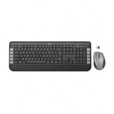 Комплект клавиатура+мышь Trust Tecla, Black, USB (беспроводная)