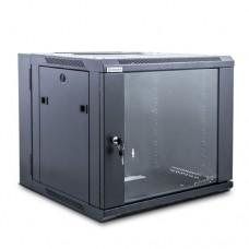 Шкаф настенный двухсекционный BIGGER, WMDSP3B-60055012, 19'' 12U 600*550мм (Ш*Г*) чёрный