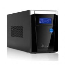 UPS SVC V-800-F-LCD ,Smart USB, Диапазон работы AVR:165-275B, 12B/9 Ач, защита телефонной линии, Чер