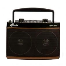 Радиоприемник портативный RITMIX RPR-212, питание от сети (встроенный аккумулятор), Brown