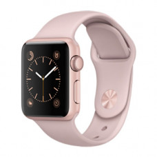 Apple Watch Series 1 38mm Rose Gold Alluminium Case with Pink Sand Sport Band Model A1802 MNNH2GK/A