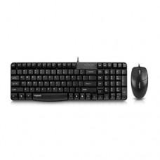 Комплект клавиатура+мышь Rapoo N1820,  USB, Черный (проводной)
