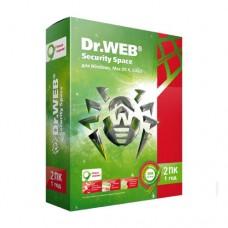Антивирус Dr.Web Антивирус 2 ПК/1 год (1 мес в подарок)