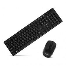 Комплект клавиатура+мышь Crown CMMK-954W, Black, USB (беспроводная)
