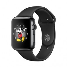 Apple Watch Series 2 42mm Space Black Stinless Steel Case with Space Black Sport Band Model A1758 MP