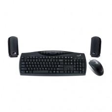 Комплект Клавиатура+Мышь+Колонка Genius KMS U110, USB (проводной)