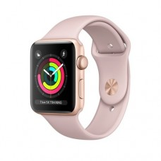 Apple Watch Series 3 GPS 42mm Gold Aluminium Case with Pink Sand Sport Band Model A1859 MQL22GK/A