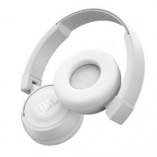 Наушники беспроводные накладные с микрофоном JBL T450, Cable 1.2m, White, JBLT450WHT