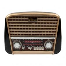 Радиоприемник портативный RITMIX RPR-050, питание от сети (встроенный аккумулятор), GOLD