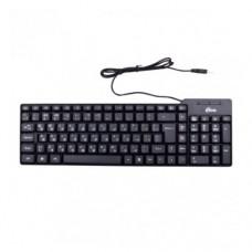 Клавиатура проводная RITMIX RKB-100, Black