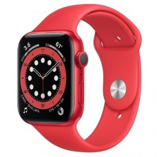 Apple Watch Series 6 GPS, 44mm PRODUCT RED Aluminium Case with PRODUCT RED Sport Band Model A2292