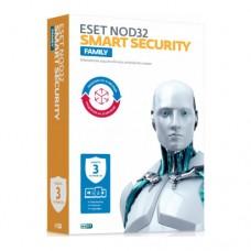 Антивирус ESET NOD32 Smart Security Family - универсальная лицензия на 1 год на 3 устройства или про