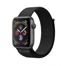 Apple Watch Series 4 GPS 44mm Space Grey Aluminium Case with Bkack Sand Sport Loop Model A1978 MU6E2
