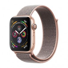 Apple Watch Series 4 GPS 44mm Gold Aluminium Case with Pink Sand Sport Loop Model A1978 MU6G2GK/A