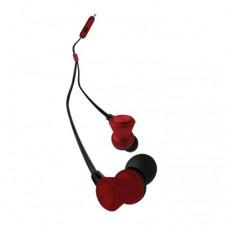 Наушники вставные с микрофоном WK Design WI 300 (железн коробка), Черный/Красный