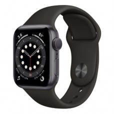 Apple Watch Series 6 GPS 44mm Space Grey Aluminium Case with Black  Sport Band - Regular Model A2292
