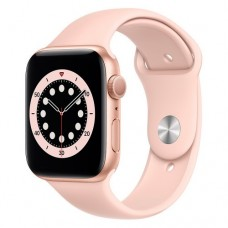 Apple Watch Series 6 GPS 44mm Gold  Aluminium Case with Pink Sport Band - Regular Model A2292 (M00E3
