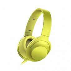 Наушники SONY MDR100AAPYC Yellow, проводные 1,2м, с микрофоном