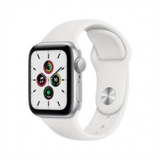 Apple Watch SE GPS 44mm Silver Aluminium Case with White Sport Band - Regular Model A2352