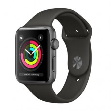Apple Watch Series 3 GPS 38mm Space Grey Aluminium Case with Black Sport Band Model A1858 MQKV2FS/A