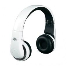 Наушники беспроводные накладные с микрофоном Manhattan Flyte, 88 дБ,20-20000 Гц. 10m, Белый