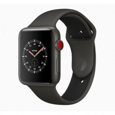 Apple Watch Series 3 42mm Space Grey Aluminium Case with Black Sport Band Model A1859 MQL12GK/A