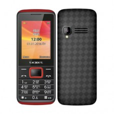 """Мобильный телефон Texet TM-214, 2.4"""", 240х320, 2xSIM, черный-красный"""